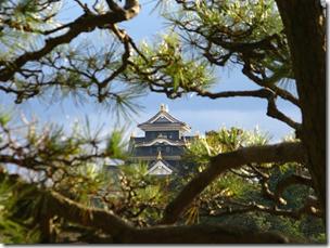 View from Okayama Korakuen Garden Japan