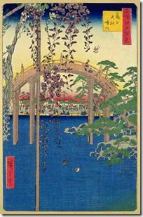 Precincts of the Tenjin Shrine at Kameido 100 views of Edo Hiroshige