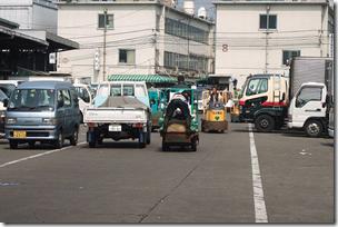 Tsukiji Fish Market Traffic Tokyo