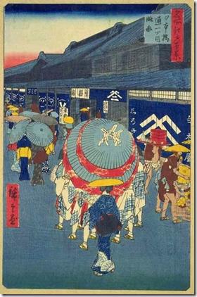 Hiroshige 100 Views of Edo Nihonbashi