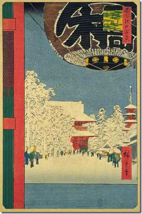 Hiroshige 100 Views of Edo Asakusa