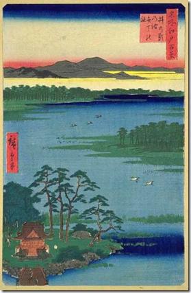 Hiroshige 100 Views of Edo Inokashira Pond
