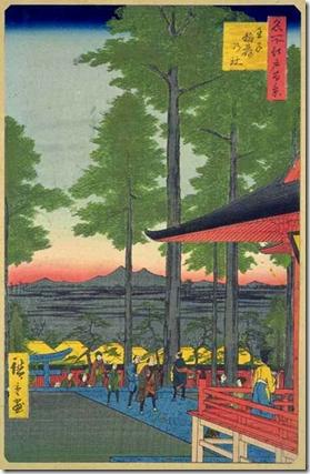 Hiroshige 100 Views of Edo Inari Shrine