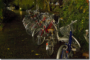 bicycles in a row Japan