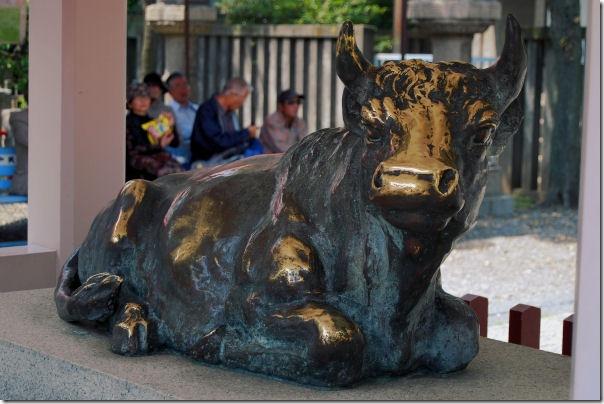 Kameido Tenjin Bronze Bull