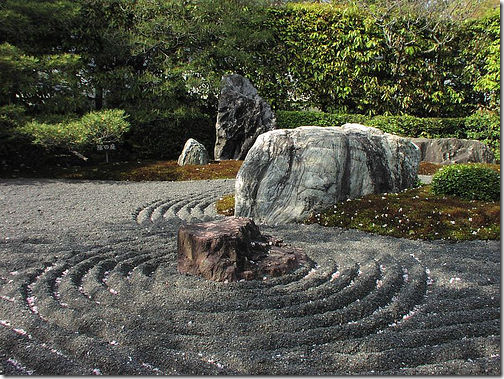 Myoshin-ji Temple Gardens Zen Rock Garden Japan