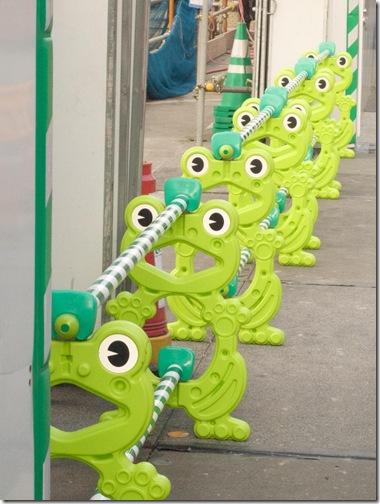 Frog barrier Japan