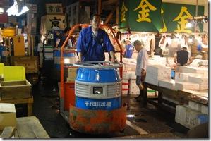 Tsukiji Fish Market Tokyo Japan Forklift